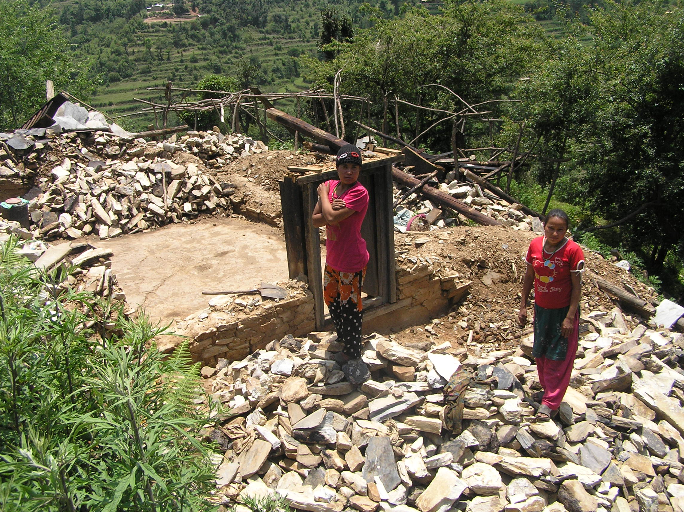 Completely-damaged-house-of-Birman-at-Kopche.