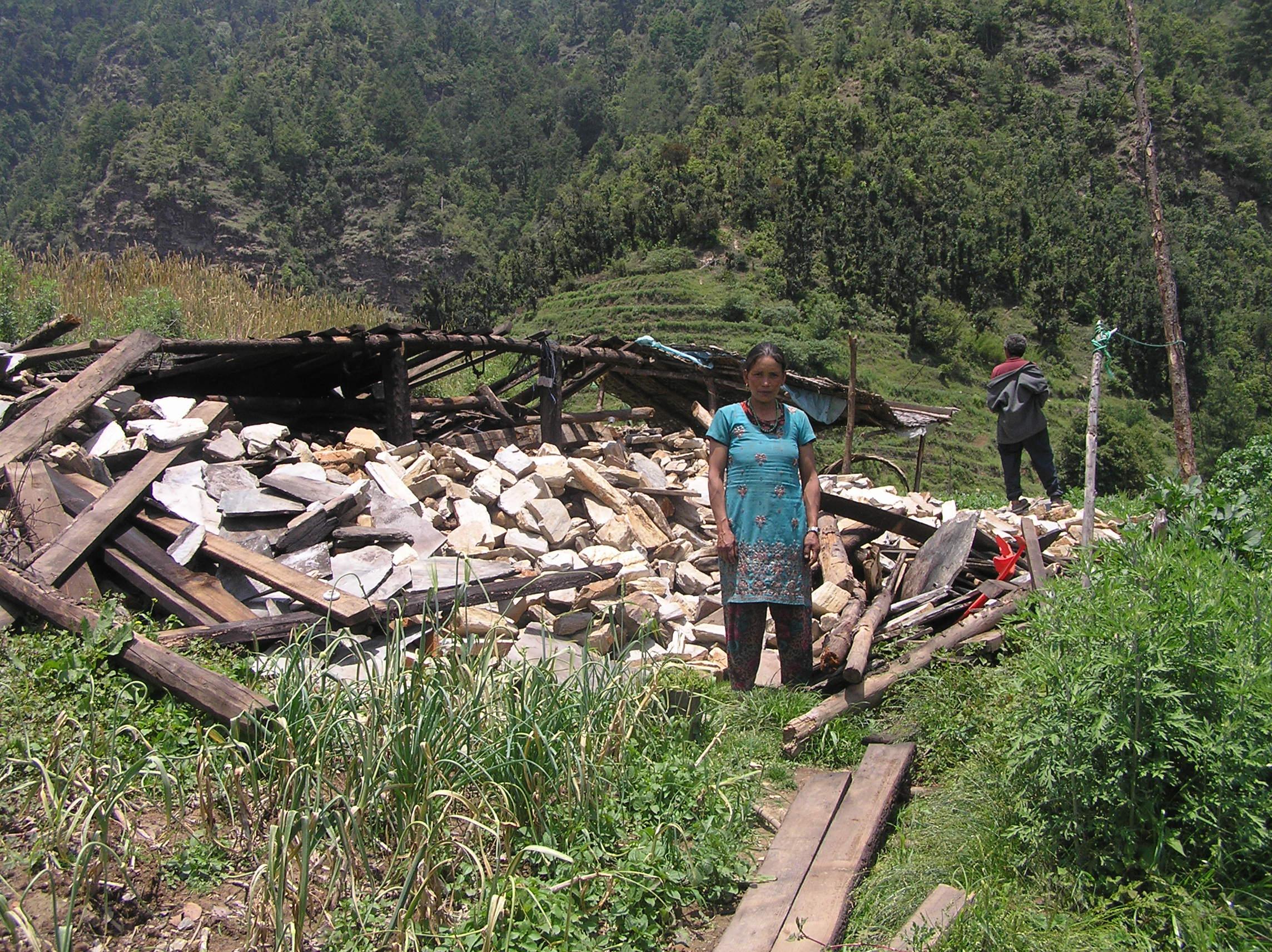 Completely-damaged-house-of-Ram-Bahadur-Tamang-Kopche.